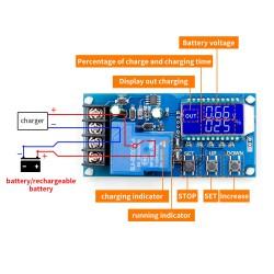 Batarya Şarj Kontrol Modülü 6-60v 30A (Koruma �