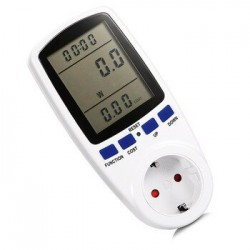 AC Güç Ölçer 230 v Dijital Gerilim Wattmetre G