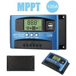 100A MPPT POWER SOLAR PANEL REGULATOR CHARGE CONTROLLER 12/24V