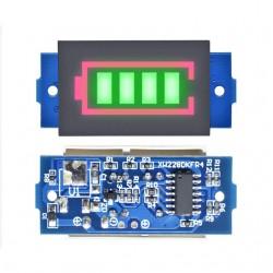18650 Lityum Pil Kapasite Göstergesi LED Ekranlı, Yeşil Arka Işıklı